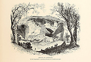 Grotto of Jeremiah with goats and shepherd, Jerusalem  from the book Picturesque Palestine, Sinai, and Egypt By  Colonel Wilson, Charles William, Sir, 1836-1905. Published in New York by D. Appleton and Company in 1881  with engravings in steel and wood from original Drawings by Harry Fenn and J. D. Woodward Volume 1