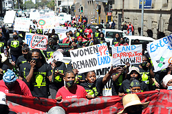 South Africa - Cape Town - 15 October 2020 - As part of International Rural Women's month Rural women march to Parliament to challenge Minister Thoko Didiza's latest land reform strategy that exclude the Western Cape and Marginalised communities. International Day of Rural Women recognizes the critical role and contribution of rural women, including indigenous women.Photographer Ayanda Ndamane/African News Agency(ANA)