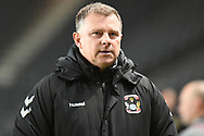 Coventry City manager Mark Robins during the EFL Trophy match between Milton Keynes Dons and Coventry City at Stadium:MK, Milton Keynes, England on 3 December 2019.