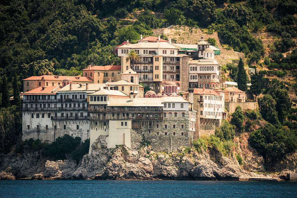 Mount Athos (Agion Oros) in Monastic Republic of Mount Athos, Greece