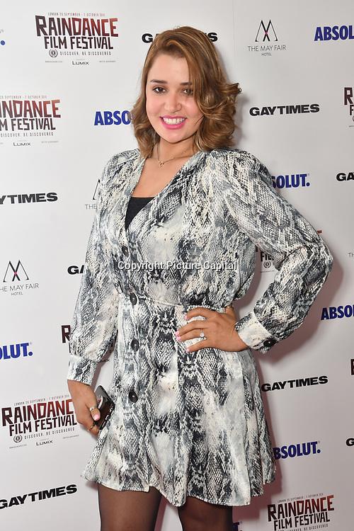 Fatima Anida attends Raindance Film Festival Gay Times Gala screening - George Michael: Freedom (The Director's Cut) London, UK. 4th October 2018.