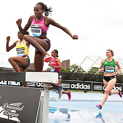 adidas Grand Prix Diamond League professional track & field meet: womens 3000 meter steeplechase, Lidya CHEPKURUI, Kenya