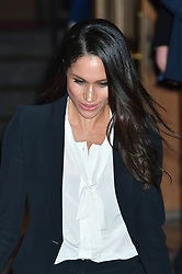 Meghan Markle leaves after attending the annual Endeavour Fund Awards at Goldsmiths' Hall in London, which celebrates the achievements of wounded, injured and sick servicemen and women who have taken part in sporting and adventure challenges over the last year.