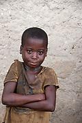 Central African Republic. August 2012. Bouar district. Zengota village. Young boy.