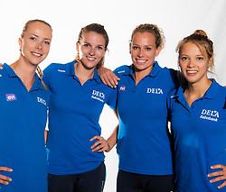02-07-2018 NED: EC Beachteams Netherlands, The Hague<br /> (L-R) Madelein Meppelink, Jolien Sinnema, Sanne keizer, Laura Bloem