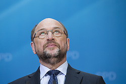 June 19, 2017 - Berlin, Germany - Chairman and Chancellor candidate of the Social Democratic Party (SPD) Martin Schulz is pictured during a news conference to present a tax concept for the elections at SPD headquarters Willy-Brandt-Haus in Berlin, Germany on June 19, 2017. (Credit Image: © Emmanuele Contini/NurPhoto via ZUMA Press)