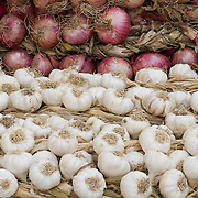 Garlic and onions for sale on the streets of Trinidad, Cuba.