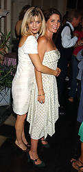 Left to right, JEMIMA FRENCH and SADIE FROST at a party hosted by Franc Roddam and Frost French to celebrate the publication of Margarita's Olive Press by Rodney Sheilds held at No1 Greek Street, Soho Square, London W1 on 15th September 2005.<br /><br />NON EXCLUSIVE - WORLD RIGHTS