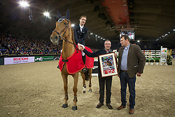 Devos Pieter (BEL) - Candy<br /> Equitime award<br /> Vlaanderens Kerst Jumping Mechelen 2013<br /> © Dirk Caremans