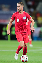 July 3, 2018 - Moscow, Russia - midfielder Jordan Henderson of England National team during the round of 16 match between Colombia  and England at the FIFA World Cup 2018 at Spartak Stadium  in Moscow, Russia, Tuesday, July 3, 2018. (Credit Image: © Anatolij Medved/NurPhoto via ZUMA Press)