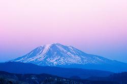 Mt. Adams at Dusk, Mt. St. Helens National Volcanic Monument, Washington, US