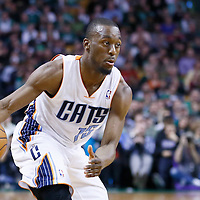 16 March 2013: Charlotte Bobcats point guard Kemba Walker (15) dribbles during the Boston Celtics 105-88 victory over the Charlotte Bobcats at the TD Garden, Boston, Massachusetts, USA.