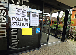May 2, 2019 - Elstree, Herts, United Kingdom - Polling signs seen at a Community Museum in Elstree used as a Polling Stations during UK Local Elections. (Credit Image: © Keith Mayhew/SOPA Images via ZUMA Wire)