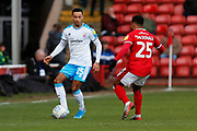 Josh Dacres-Cogley on the ball during the EFL Sky Bet League 2 match between Walsall and Crawley Town at the Banks's Stadium, Walsall, England on 18 January 2020.