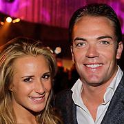 NLD/Amsterdam/20121013- LAF Fair 2012 VIP Night, chantal Bles en partner Robert Doornbos