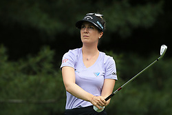 June 16, 2018 - Belmont, Michigan, United States - Sandra Gal of Germany tees off on the second tee during the third round of the Meijer LPGA Classic golf tournament at Blythefield Country Club in Belmont, MI, USA  Saturday, June 16, 2018. (Credit Image: © Jorge Lemus/NurPhoto via ZUMA Press)