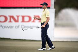 February 25, 2018 - Palm Beach Gardens, Florida, U.S. - Justin Thomas reacts to winning the 2018 Honda Classic at PGA National Resort and Spa in Palm Beach Gardens, Florida on February 25, 2018. (Credit Image: © Allen Eyestone/The Palm Beach Post via ZUMA Wire)