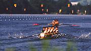 Lucerne, SWITZERLAND.  GBR M8+  [Eights Returning to the boating area after racing] 1988  Lucerne International Regatta, Lake Rotsee. June 1988 [Mandatory Credit - Peter Spurrier/Intersport Images] 1988 Lucerne International Regatta
