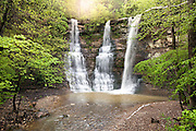 Twin Falls or Triple falls as it is sometimes known as is on private property of Camp Orr BSA