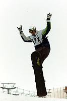 Snowboard, NM snøbrett Boardercross Geilo mars 2000. Sørvold.