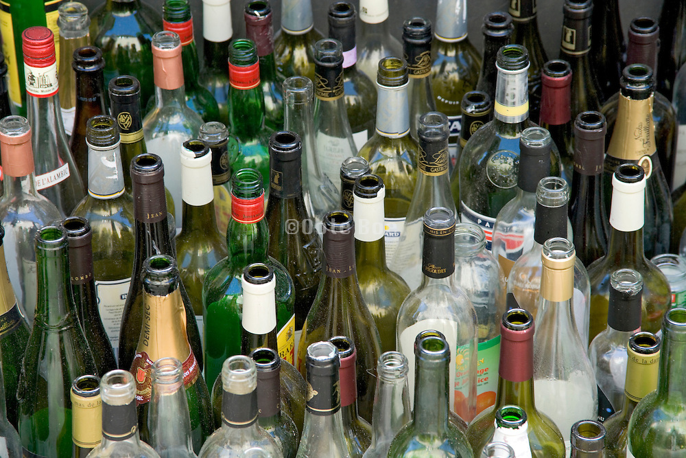 to recycle empty wine bottles