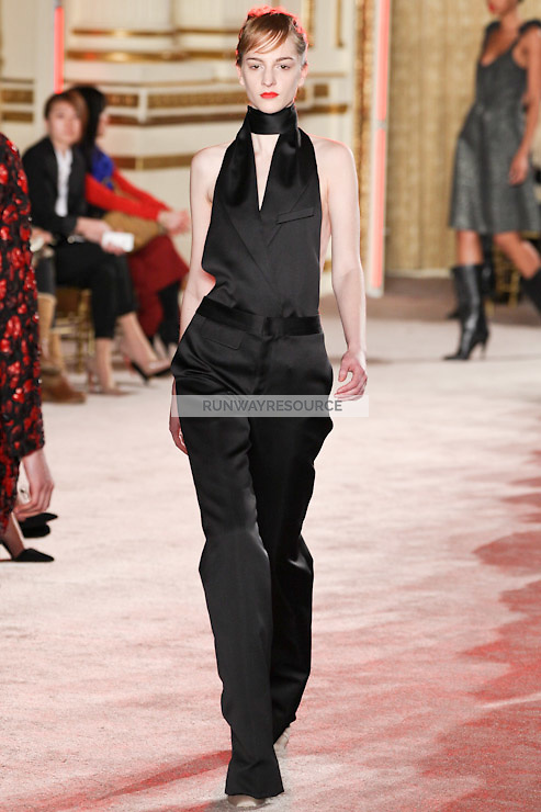 Ros Georgiou walks down runway for F2012 Thakoon's collection in Mercedes Benz fashion week in New York on Feb 10, 2012 NYC