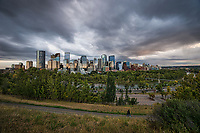 Sunnyside Bank Park, Bow River & Downtown Calgary