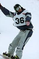 Snowboard, Norgescup Boarder-cross 16. desember 2001. Eirik Haugo, VSL / NTG vant juniorklassen.