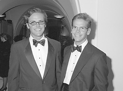 1 September 1993 - Left to right, James Murdoch and Lachlan Murdoch at a party to celebrate the launch of SKY TV new channels, held at The Banqueting House, Whitehall, London.<br /> <br /> Photo by Dominic O'Neill/Desmond O'Neill Features Ltd.  +44(0)1306 731608  www.donfeatures.com