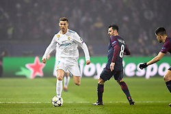 March 6, 2018 - Paris, U.S. - 07 Cristiano Ronaldo (real) - 08 THIAGO MOTTA (psg) during the Champions League match Real Madrid at Paris Saint-Germain on March 6, 2018 in Paris, France. (Photo by Anthony Bibard/FEP/Panoramic/Icon Sportswire) ****NO AGENTS---NORTH AND SOUTH AMERICA SALES ONLY****NO AGENTS---NORTH AND SOUTH AMERICA SALES ONLY* (Credit Image: © Anthony Bibard/Icon SMI via ZUMA Press)