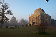 The Sheesh Gumbad, Lodhi Gardens, New Delhi, India. The site is now protected by the Archeological Survey of India. The gardens are a hotspot for morning walks for the Delhiites.