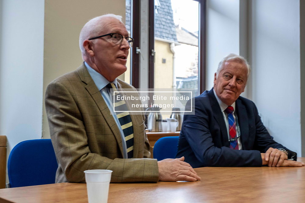 Pictured: Reverend Martin Fair and Reverend Dr George Whyte, Principal Clerk of the Church of Scotland<br /><br />Reverand Martin Fair has been announced today to be the Moderator-Designate of the General Assembly of the Church of Scotland (who will serve from May 2020-May 2021) <br /><br />Ger Harley | EEm 21 October 2019