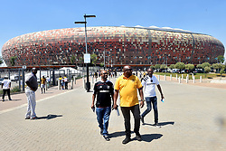 South Africa: Gauteng: Soccer fans arrive for Orlando Pirates and Kaizer Chiefs during the Soweto Derby for the Absa premiership at FNB stadium, Gauteng.<br />Picture: Itumeleng English/African News Agency (ANA)