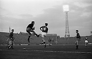 05/05/1965<br /> 05/05/1965<br /> 05 May 1965<br /> Ireland v Spain, World Cup Qualifier at Dalymount Park, Dublin. Jose Iribar jumps to save as Ireland's Mick Mcgrath leaps for possession.
