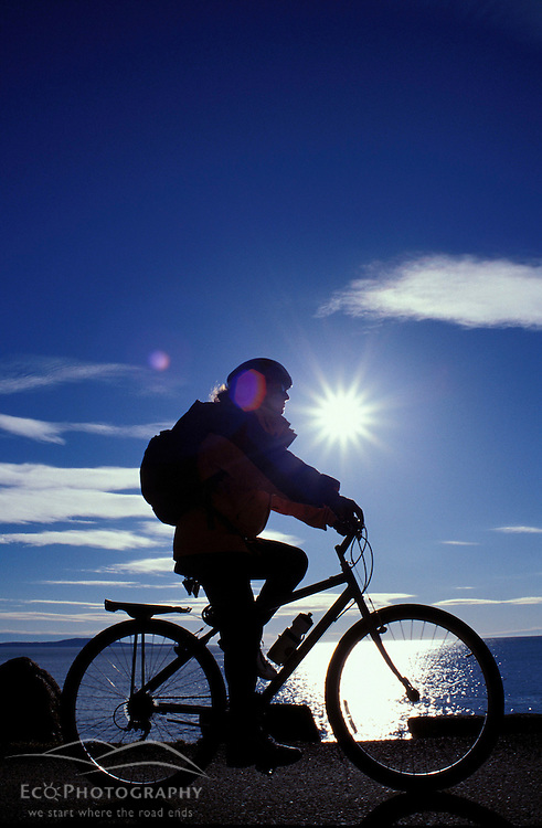 Acadia N.P., ME. Ocean Drive.  Atlantic Ocean. Biking.