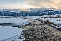 The colors were very muted as the sun set over Soda Butte Creek in the Lamar Valley.  But it was the only hint of color I saw in the sky while I was in Yellowstone.