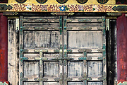 """Door pattern. Toshogu Shrine is the final resting place of Tokugawa Ieyasu, the founder of the Tokugawa Shogunate that ruled Japan for over 250 years until 1868. Ieyasu is enshrined at Toshogu as the deity Tosho Daigongen, """"Great Deity of the East Shining Light"""". Initially a relatively simple mausoleum, Toshogu was enlarged into the spectacular complex seen today by Ieyasu's grandson Iemitsu during the first half of the 1600s. The lavishly decorated shrine complex consists of more than a dozen buildings set in a beautiful forest. Countless wood carvings and large amounts of gold leaf were used to decorate the buildings in a way not seen elsewhere in Japan. Toshogu contains both Shinto and Buddhist elements, as was common until the Meiji Period when Shinto was deliberately separated from Buddhism. Toshogu is part of Shrines and Temples of Nikko UNESCO World Heritage site."""