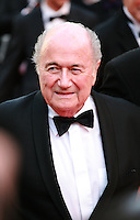 Sepp Blatter, at the The Homesman gala screening red carpet at the 67th Cannes Film Festival France. Sunday 18th May 2014 in Cannes Film Festival, France.