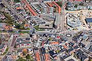 Nederland, Groningen, Gemeente Oldambt,  01-05-2013; centrum Winschoten met  korenmolen Edens aan de Oudewerfslaan, hoek Nassaustraat.<br /> Small provincial town, marketplace, regional centre (northeast Holland).<br /> luchtfoto (toeslag op standard tarieven);<br /> aerial photo (additional fee required);<br /> copyright foto/photo Siebe Swart