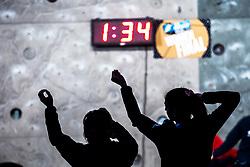 KRAMPL Mia of Slovenia and KOTAKE Mei of Japana before Finals IFSC World Cup Competition in sport climbing Kranj 2019, on September 29, 2019 in Arena Zlato polje, Kranj, Slovenia. Photo by Peter Podobnik / Sportida