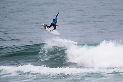 Jordy Smith (ZAF) surfing in Qualifying Round Heat 2 of the WSL Redbull Airborne event in Hossegor, France.