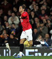 Photo: Paul Thomas/Sportsbeat Images.<br /> Manchester United v Fulham. The FA Barclays Premiership. 03/12/2007.<br /> <br /> Cristiano Ronaldo of Man Utd celebrates his goal.