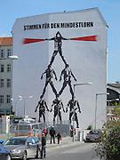 Berlin, GERMANY. General Views,  GV's.  Graffiti/Graphics, displayed on buildings, May Day 2011.  Saturday  01/05/2011 [Mandatory Credit; Peter Spurrier/Intersport-images]. Street Photos