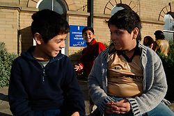 Refugee boys from Iran at a community centre in Bradford; Yorkshire UK