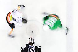 Faceoff during ice hockey match between HDD Olimpija Ljubljana and Dornbirner EC in Erstebank league season 2016/17, on October 24, 2016 in Hala Tivoli, Ljubljana, Slovenia. Photo by Morgan Kristan / Sportida