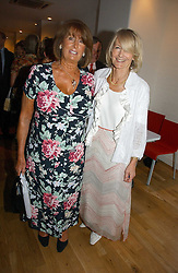 Left to right, LADY ANNABEL GOLDSMITH and SANDRA HOWARD at a party to celebrate the publication of Glass Houses by Sandra Howard held at Tamesa, Oxo Tower Wharf, Barge House Street, London SE1 on 5th September 2006.<br /><br />NON EXCLUSIVE - WORLD RIGHTS