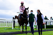 Pitchcombe ridden by William Cox and trained by Clive Cox ridden in the Kentucky Derby On Sky Sports Racing Handicap - Mandatory by-line: Ryan Hiscott/JMP - 24/08/20 - HORSE RACING - Bath Racecourse - Bath, England - Bath Races