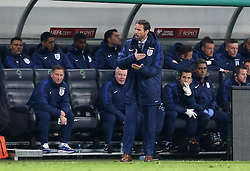 Interim England Manager Gareth Southgate looks angry as a decision goes against his side - Mandatory by-line: Robbie Stephenson/JMP - 11/10/2016 - FOOTBALL - RSC Stozice - Ljubljana, England - Slovenia v England - World Cup European Qualifier