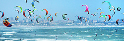 Cape Town 30-01-16 -<br /> South Africa creates a new Guinness World Record for  The Largest Parade of Kite-surfers  during the Virgin Kitesurfing Armada at Dolphin Beach in Table View. 415 participants successfully completed the 2.7km stretch from Dolphin beach to the Doodle beach front. The previous record was held by Spain with 352 participants.Many of the overseas kite boarders who took part are allso here for the Red Bull King of the Air event which takes place when the winds are near gale force in strength <br /> Pic Brenton Geach <br /> <br /> <br /> <br /> <br /> <br /> <br /> Pic Brenton Geach <br /> <br /> <br /> <br /> <br /> <br /> <br /> <br />        Picture Brenton Geach