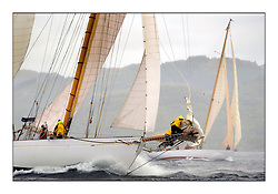 Day five of the Fife Regatta, Race from Portavadie on Loch Fyne to Largs. <br /> <br /> Kentra, E & D Klaus, GBR, Gaff Ketch, Wm Fife 3rd, 1923<br /> <br /> * The William Fife designed Yachts return to the birthplace of these historic yachts, the Scotland's pre-eminent yacht designer and builder for the 4th Fife Regatta on the Clyde 28th June–5th July 2013<br /> <br /> More information is available on the website: www.fiferegatta.com